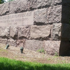 Photo taken at Franklin Delano Roosevelt Memorial by Julie Ann C. on 7/29/2012
