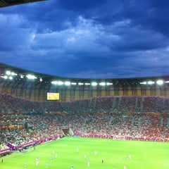 Photo taken at PGE Arena Gdańsk by Laura I. on 6/19/2012