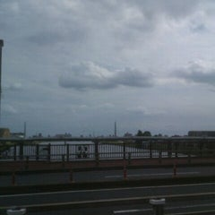 Photo taken at 飯塚橋 by yellowblue7 on 9/25/2011