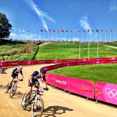 Photo taken at London 2012 venue - Hadleigh Farm by Angelique B. on 8/11/2012