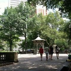 Photo taken at Rittenhouse Square by Karen A. on 7/21/2012