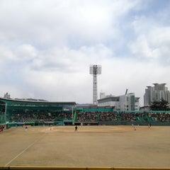 Photo taken at 청주종합운동장 야구장 (Cheongju Baseball Stadium) by Yangcho J. on 3/25/2012