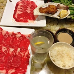 Photo taken at Tokyo Shabu Shabu by Hong J. on 11/18/2012