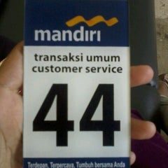 Photo taken at Bank Mandiri by Esterina d. on 11/14/2012
