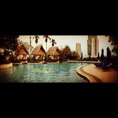 Photo taken at Swimming Pool - The Ritz Carlton 5th Floor Kuningan by Rama L. on 10/9/2012