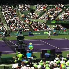 Photo taken at Grandstand Court - Sony Ericsson Open by xavier m. on 3/31/2013