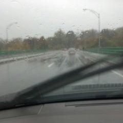 Photo taken at Hunts Falls Bridge by Josh H. on 10/29/2012