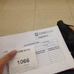 Photo taken at CIMB Bank by STZ on 1/7/2015