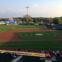 Photo taken at Arm & Hammer Park by Merry S. on 5/9/2013