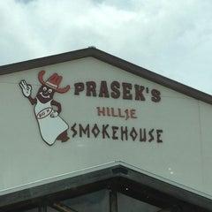 Photo taken at Prasek's Hillje Smokehouse by Jen H. on 7/26/2013