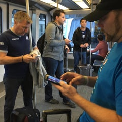 Photo taken at SFO AirTrain Station by Amy A. on 10/16/2015