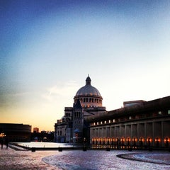 Photo taken at Christian Science Reflecting Pool by Pedro S. on 4/22/2013