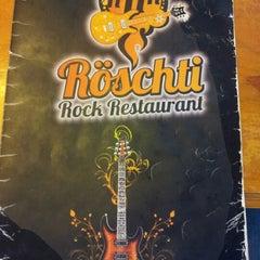 Photo taken at Röschti Rock Restaurant by Gabriel M. on 1/15/2013