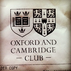 Photo taken at The Oxford and Cambridge Club by Ollie M. on 10/9/2012