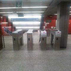 Photo taken at Metro Ursynów by Grzegorz K. on 9/21/2012
