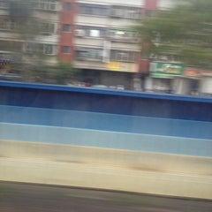 Photo taken at 捷運忠義站 MRT Zhongyi Station by Jeffery L. on 5/2/2014