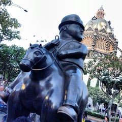 Photo taken at Plaza Botero by Gilson G. on 7/25/2013