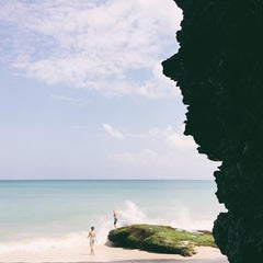 Photo taken at Tegal Wangi Beach by Erwan T. on 2/4/2016