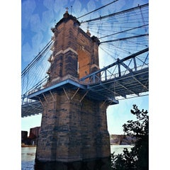 Photo taken at John A. Roebling Suspension Bridge by Howard N. on 10/11/2013