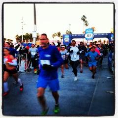 Photo taken at 13.1 LA Marathon by Alex D. on 1/14/2013