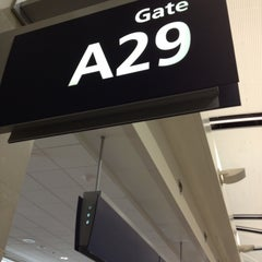 Photo taken at Gate A29 by lisa on 4/29/2013