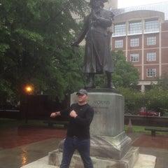 Photo taken at Robert Morris Statue by Bryan M. on 6/7/2013