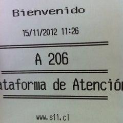 Photo taken at Servicio de Impuestos Internos by Sebastian R. on 11/15/2012