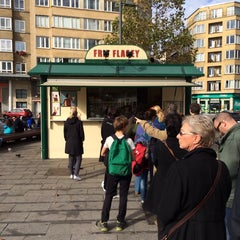 Photo taken at Frit' Flagey by Pierre L. on 10/20/2013
