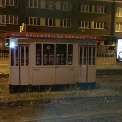 Photo taken at Tram 5 : Halte - Antwerp Stadion by Antwerpeneirke A. on 10/5/2014