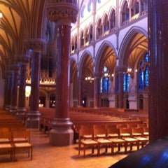 Photo taken at Saint Francis Xavier College Church by Justin E. on 1/26/2013