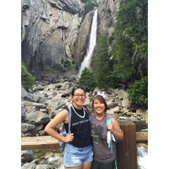 Photo taken at Lower Yosemite Falls by Tram H. on 6/4/2015
