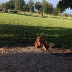 Photo taken at Canine Cove at South County Regional Park by Kelly M. on 10/1/2014