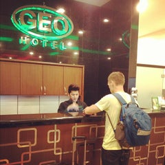Photo taken at Geo Hotel by Muhi C. on 10/19/2012