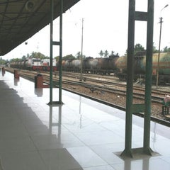 Photo taken at Stasiun Rantauprapat by Erna A. on 3/30/2015