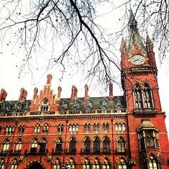 Photo taken at London St Pancras International Railway Station (STP) by Lidia S. on 1/11/2013