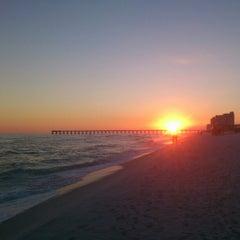 Photo taken at Navarre Beach by Vitaliy V. on 10/24/2012