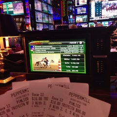 Photo taken at Sports Book @ Peppermill Casino by Harry C. on 5/17/2014