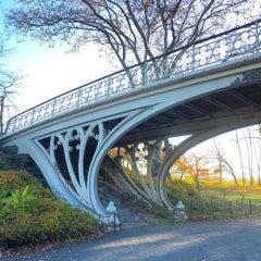 Photo taken at Central Park - Gothic Bridge by geheimtip ʞ. on 11/16/2015