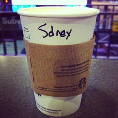 Photo taken at Starbucks by Cindy T. on 1/25/2013