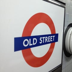 Photo taken at Old Street London Underground Station by Namer M. on 10/22/2012