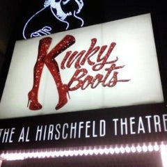 Photo taken at Kinky Boots at the Al Hirschfeld Theatre by MarcAntony on 4/3/2013