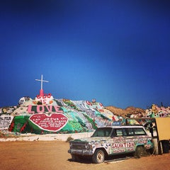 Photo taken at Salvation Mountain by esther j. on 5/31/2013