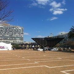 Photo taken at Rabin Square (כיכר רבין) by Anna F. on 3/6/2013