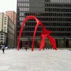 Photo taken at Alexander Calder's Flamingo Sculpture by Stephen S. on 1/12/2013