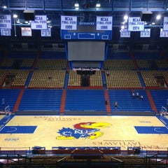 Photo taken at Allen Fieldhouse by Jay F. on 11/15/2012