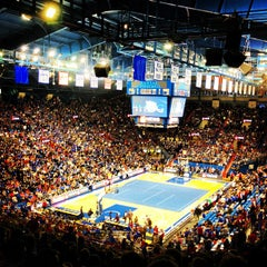 Photo taken at Allen Fieldhouse by Jay F. on 10/12/2012