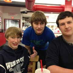 Photo taken at Five Guys by Adrian B. on 3/27/2013