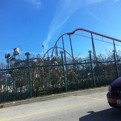 Photo taken at Six Flags Great America by Katherine M. on 10/21/2012