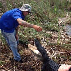 Photo taken at Buffalo Tiger's Airboat Rides by Alexander O. on 4/15/2015