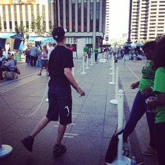 Photo taken at U.S. Bank Ice Rink on Fountain Square by Robert B. on 9/7/2014